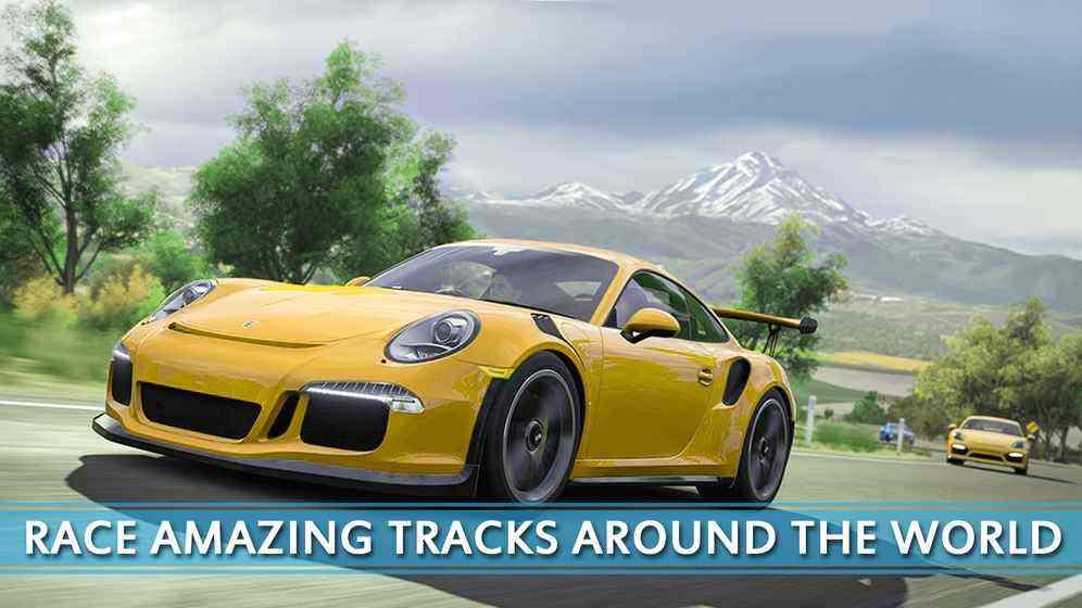 追逐高速赛车的街道